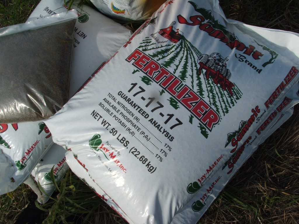 A good fertilizer for brassicas would be triple 17.  Put on 2-4 bags per acre.