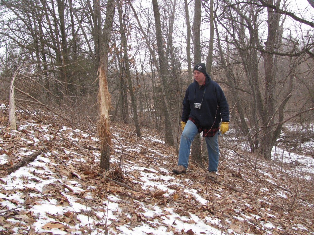 Late winter is great for scouting and doing stand maintenance.  You can walk your property without worrying about affecting your hunting this fall.  Once fall comes around, you need to already have figured out what going on and how the deer move...fall is not the time to be bumbling around scouting.