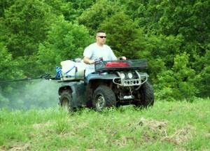 Spraying plots you plan to plant in the fall is a good way to stay ahead of weeds.