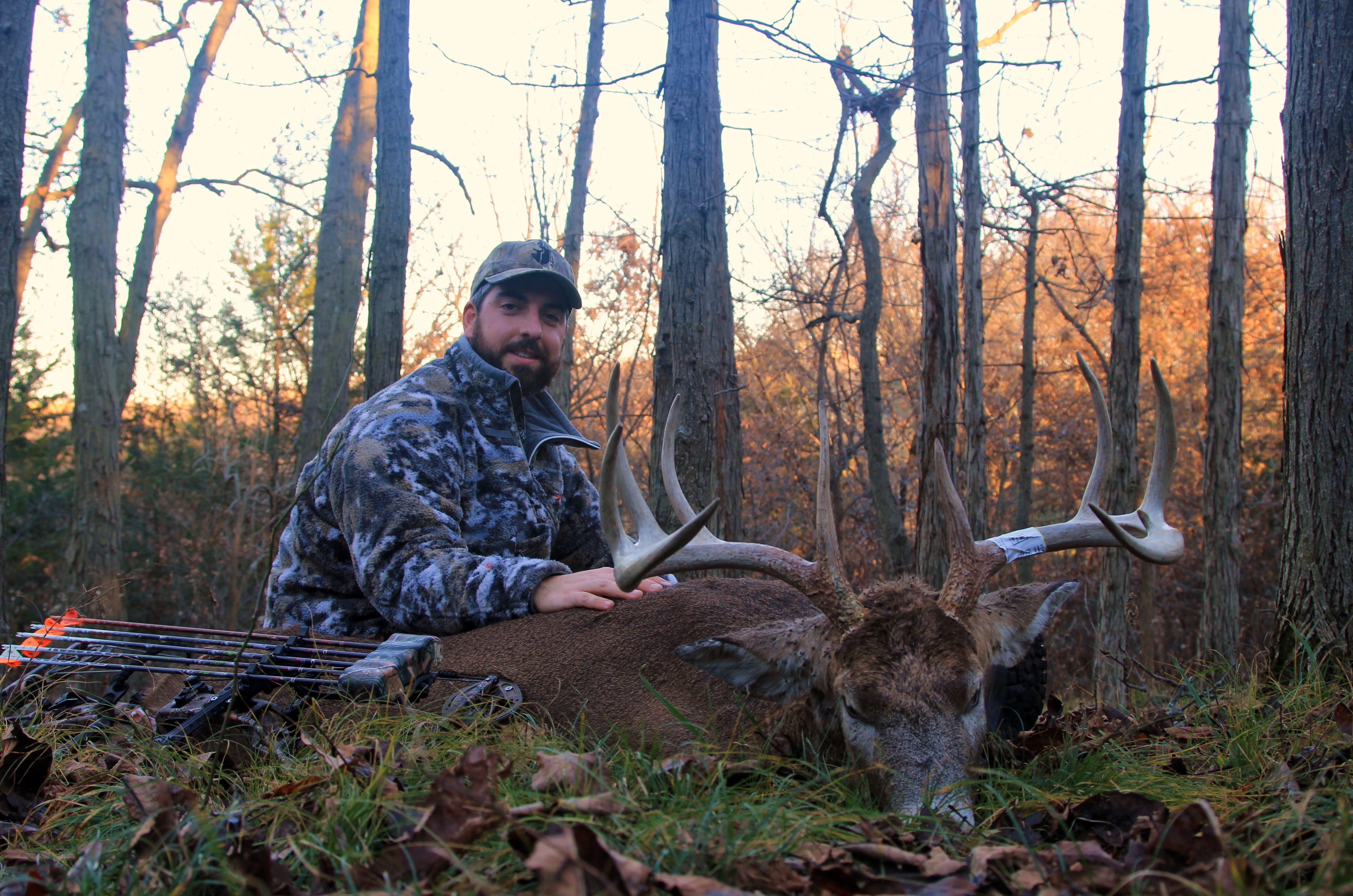 Marc Alberto with his 10 point Iowa buck.