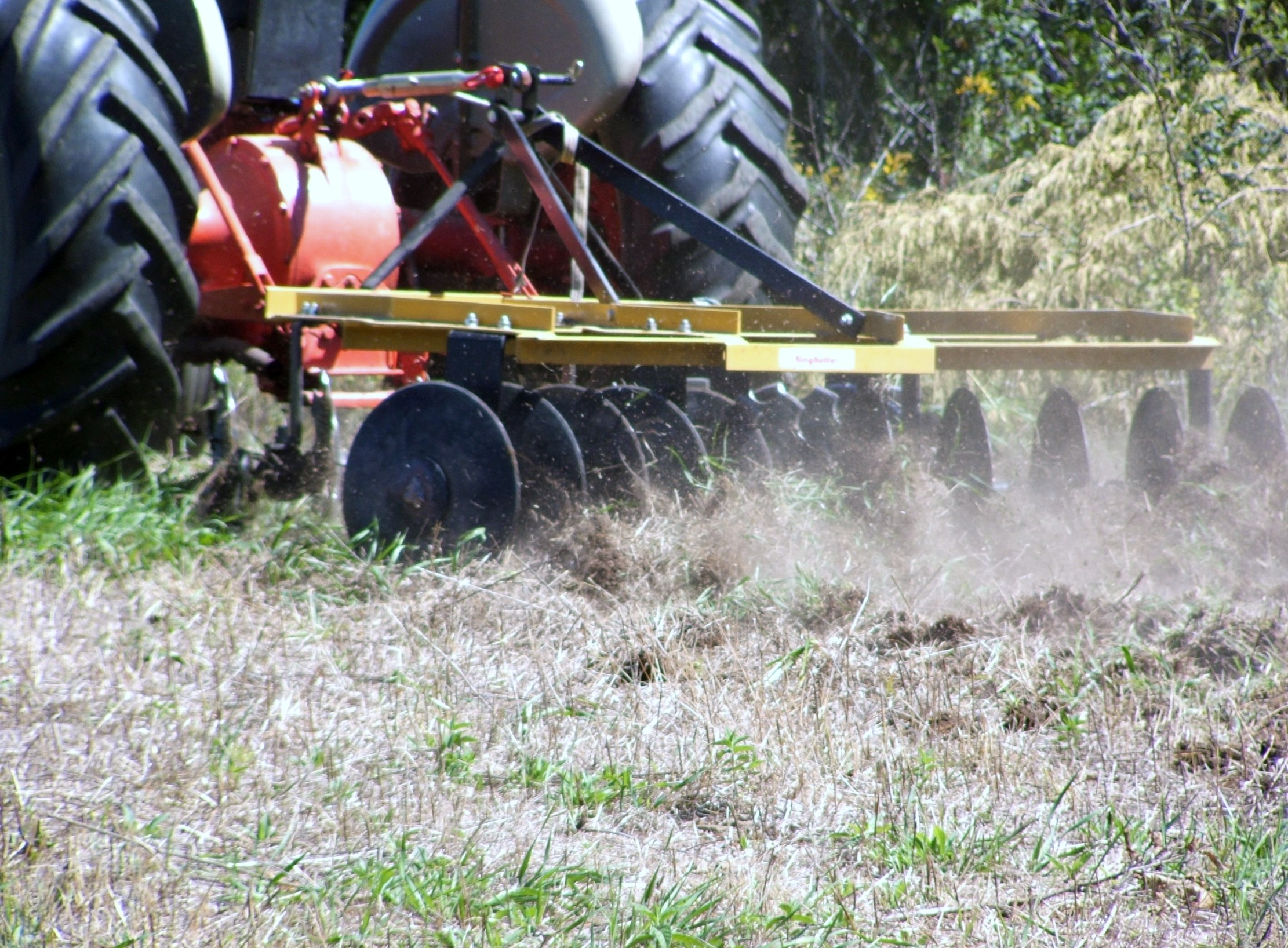 A tractor and disc is all you need to plant every food plot.