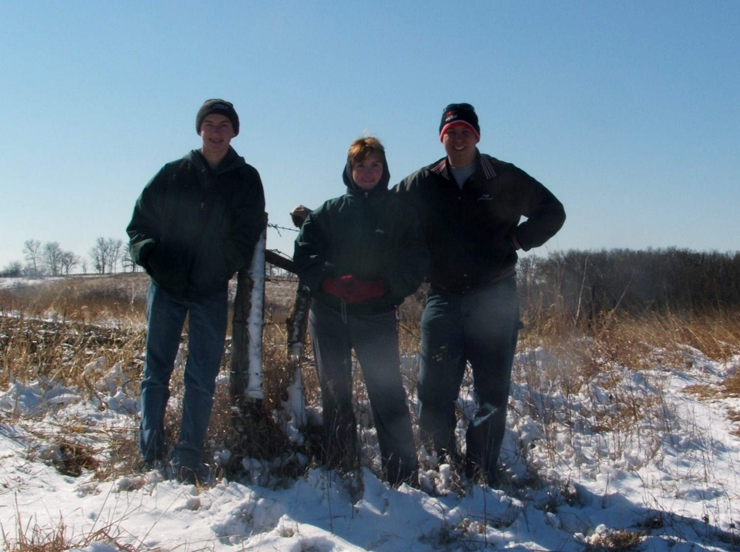 Here, I'm posing with Amy and Forest on our farm the day of closing back in 2012.